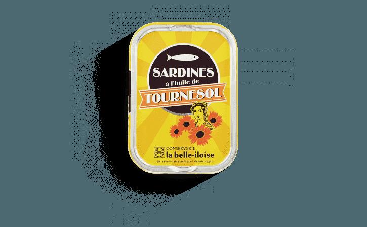 Sardines à l'huile de tournesol - Conserverie la belle-iloise