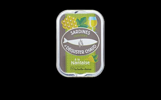 Sardines cuisinées à déguster chaud à la Nantaise