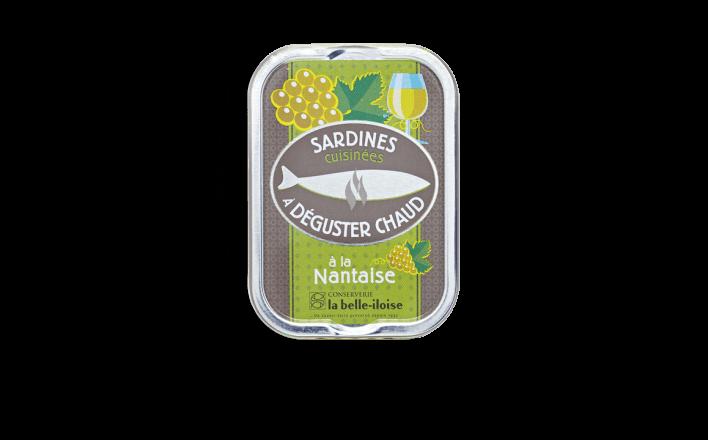 Sardines cuisinées à déguster chaud à la Nantaise - 3 boîtes de 115g - La Belle Iloise