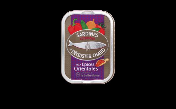 Sardines cuisinées à déguster chaud aux épices orientales