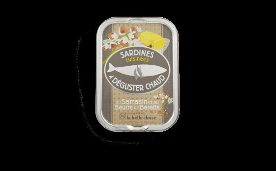 Sardines cuisinées à déguster chaud au sarrasin et au beurre de...