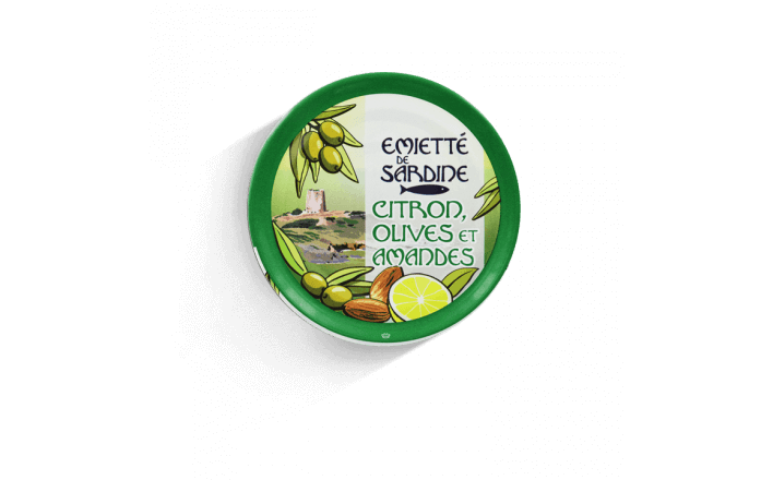 flaked sardines with lemon, olives and almonds - 5 tins of 80g ea. - La Belle Iloise