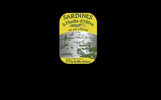 Boîte à Sardines à l'huile d'olive et citron