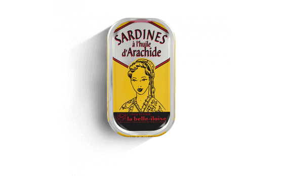 Sardines in peanut oil - 5 tins of 69g ea.