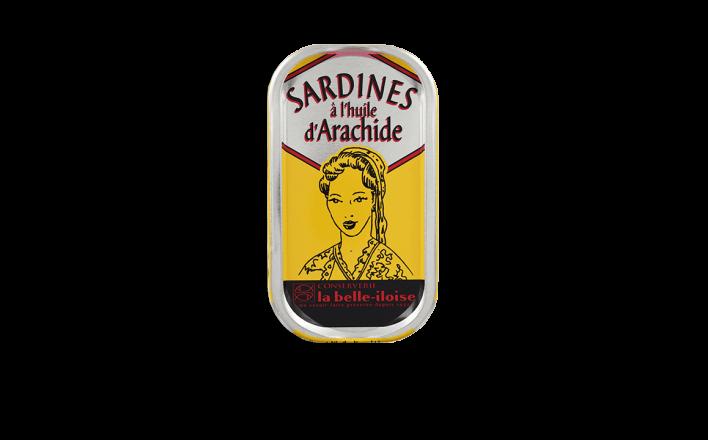 Sardines à l'huile d'arachide - 5 boîtes de 69g - La Belle Iloise