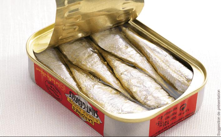 Sardines Saint-Georges à l'huile d'olive - 5 boîtes de 69g - La Belle Iloise