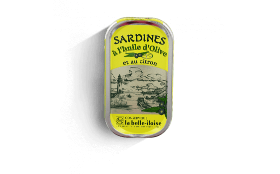 Sardines with olive oil and lemon - 5 tins of 69g ea.