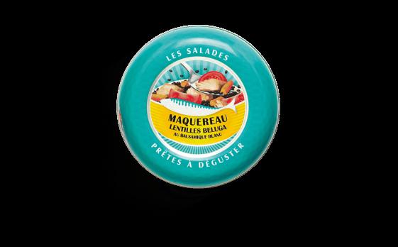 Salade prête à déguster de maquereau, lentilles béluga au balsamique blanc - Conserverie la belle-iloise