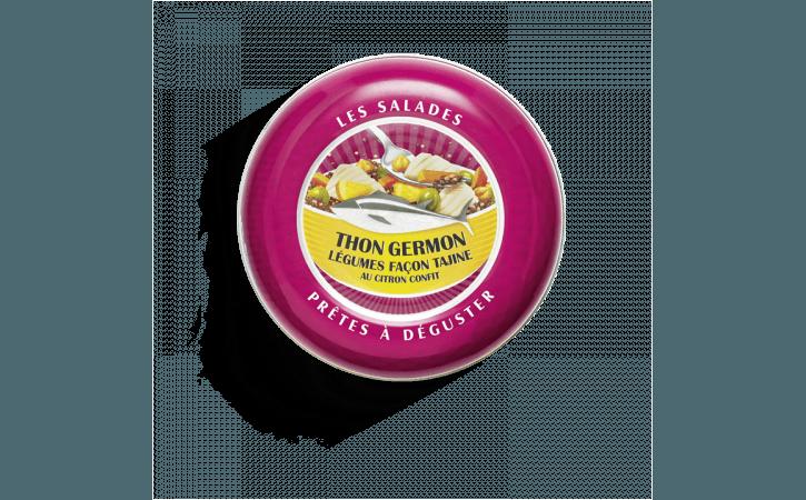 Salade prête à déguster de thon germon, légumes façon tajine au citron confit - Conserverie la belle-iloise