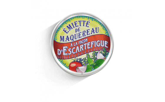 Escartefigue-style crumbled mackerel - 5 tins of 160g ea.