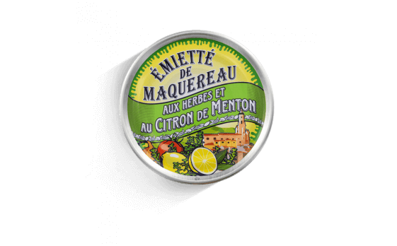 crumbled mackerel with herbs and Menton lemon - 5 tins of 160g ea.