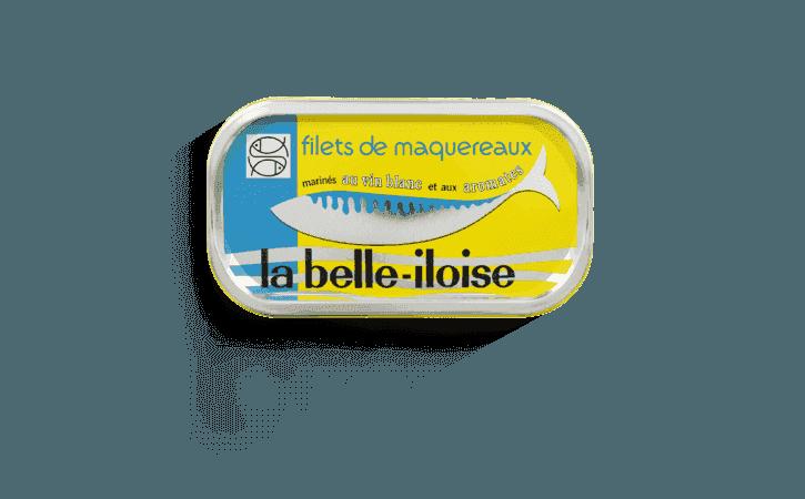 Filets de maquereaux marinés au vin blanc et aux aromates - Conserverie la belle-iloise