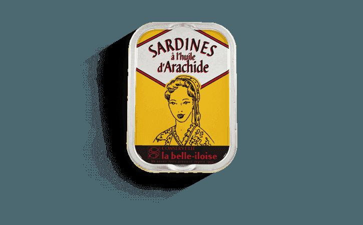 Sardine huile arachide - Conserverie la belle-iloise