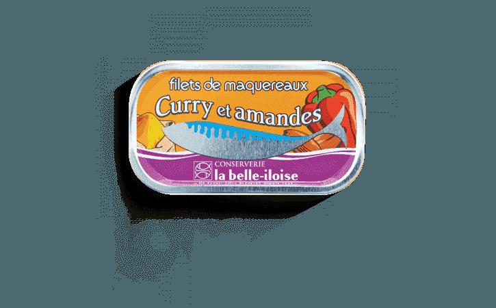 Filets de maquereaux curry et amandes - Conserverie la belle-iloise
