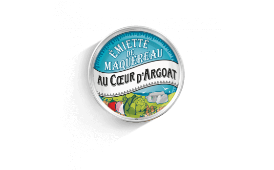 Au cœur d'Argoat crumbled mackerel with artichoke hearts - 5 tins...