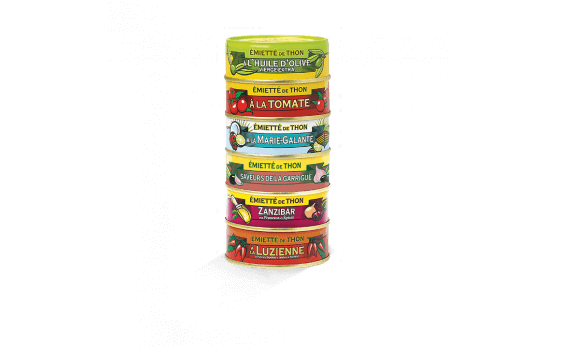 Assortment of 6 varieties of crumbled tuna of 80g ea.