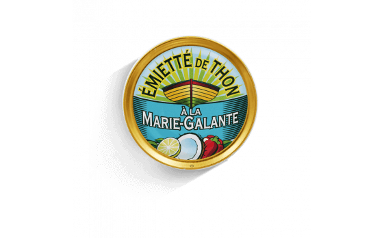 Marie-Galante crumbled tuna - 5 tins of 80g ea.