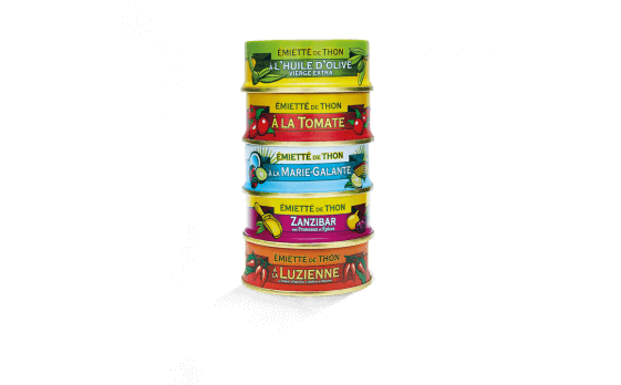 Assortment of 5 varieties of crumbled tuna of 160g ea.