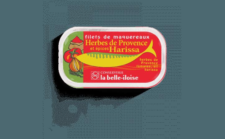 Filets de maquereaux herbes de Provence et épices harissa - Conserverie la belle-iloise