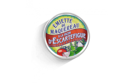 Escartefigue-style crumbled mackerel - 5 tins of 80g ea.