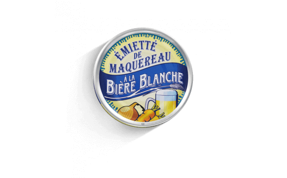 crumbled mackerel with white beer - 5 tins of 80g ea.
