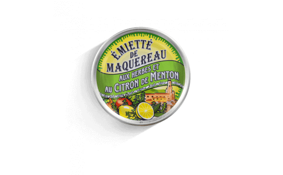 crumbled mackerel with herbs and Menton lemon - 5 tins of 80g ea.