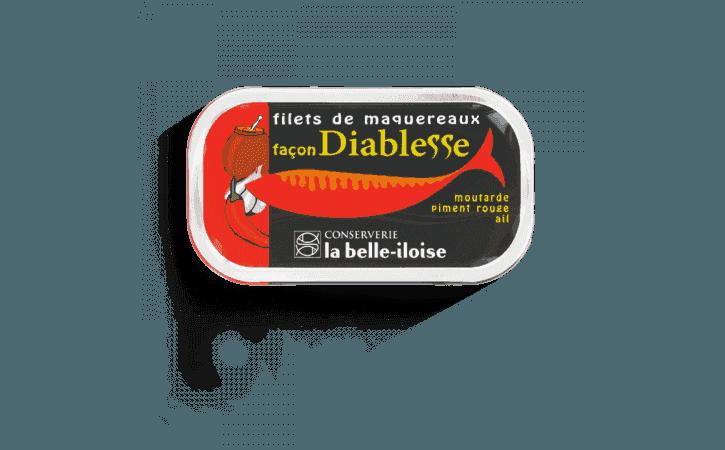 Filets de maquereaux façon diablesse - Conserverie la belle-iloise