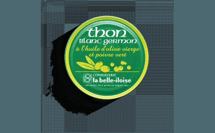 Thon blanc germon à l'huile d'olive et poivre vert - Conserverie la belle-iloise
