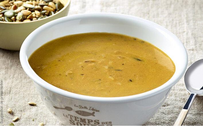 Nos soupes repas dorade aux topinambours, sarrasin et éclats de marron - 4 boîtes de 380g - La Belle Iloise