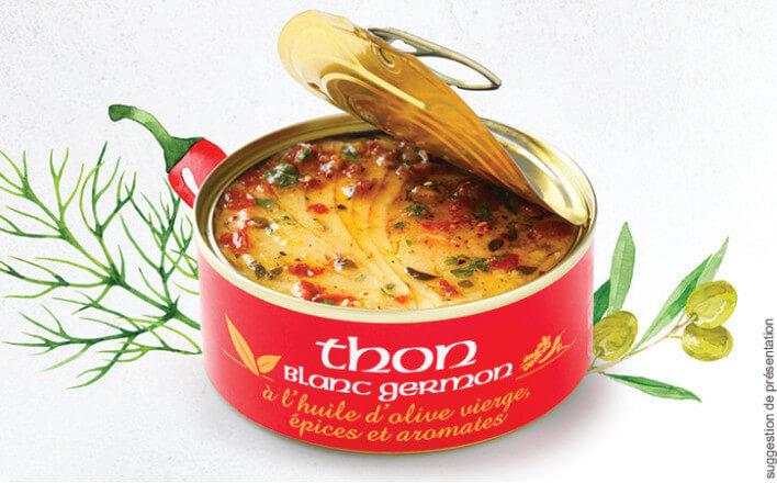Thon blanc germon à l'huile d'olive, épices et aromates - 3 boîtes de 160g - La Belle Iloise