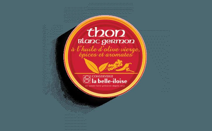 Thon blanc germon à l'huile d'olive, épices et aromates
