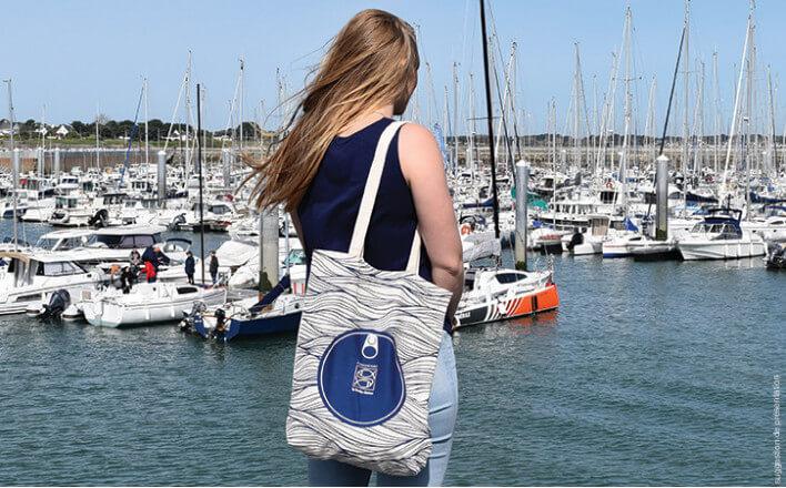 « Ocean » organic cotton bag - La Belle Iloise