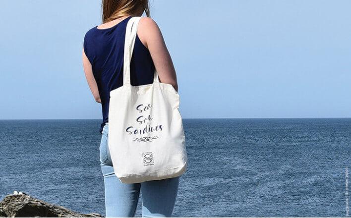 Sac en coton bio ''Sea Sun Sardine'' - La Belle Iloise