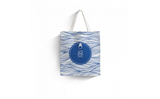 « Ocean » organic cotton bag