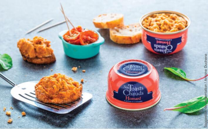 Nos toasts chauds homard - 3 boîtes de 105g - La Belle Iloise