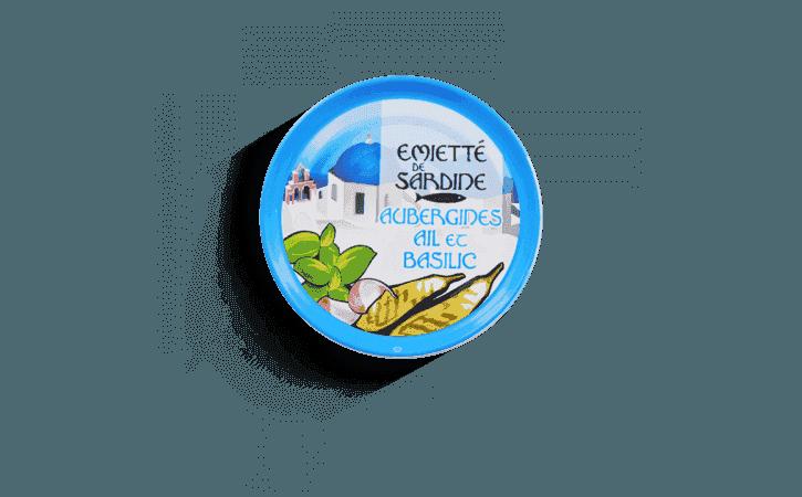 Emietté de sardine aubergines, aïl et basilic - Conserverie la belle-iloise