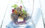 Caviar d'aubergines et cabillaud