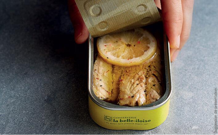 Filets de maquereaux à l'huile d'olive, citron et 5 baies - 5 boîtes de 118g - La Belle Iloise