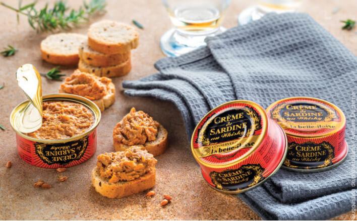 Crème de sardine au Whisky - 5 boîtes de 60g - La Belle Iloise