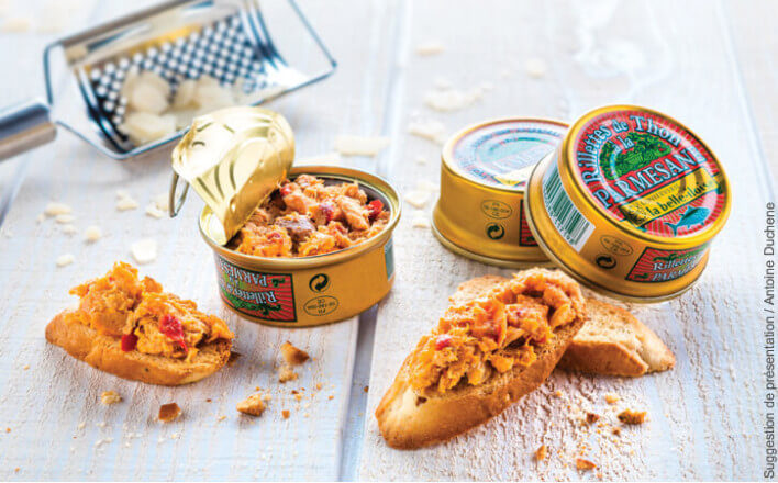 Rillettes de thon à la parmesane - 3 boîtes de 60g - La Belle Iloise