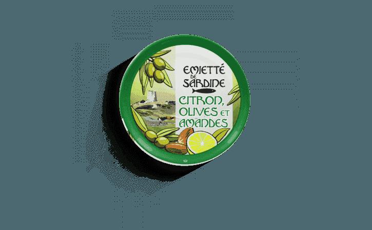 Émietté de sardine citron, olives et amandes - Conserverie la belle-iloise