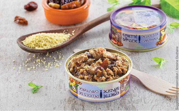 """Flavours of Carthage"" flaked sardines - 5 tins of 80g ea. - La Belle Iloise"