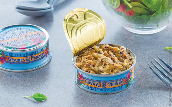 flaked mackerel with Grains of Paradise - 5 tins of 160g ea. - La Belle Iloise
