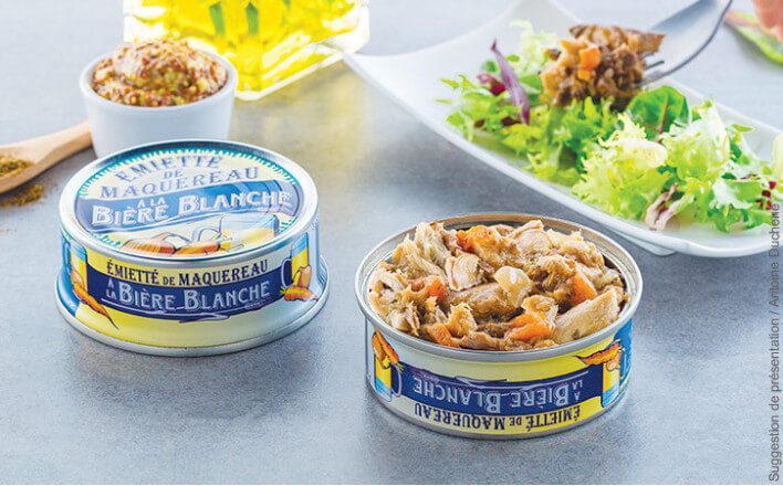 flaked mackerel with white beer - 5 tins of 160g ea. - La Belle Iloise