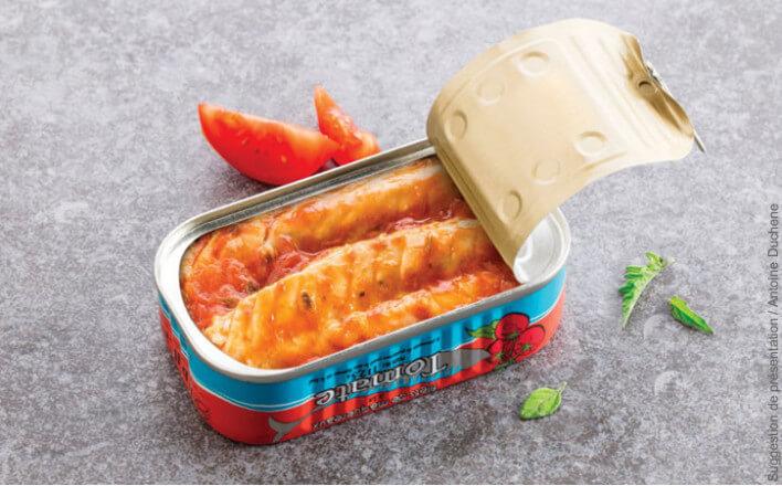 Filets de maquereaux à la tomate - 5 boîtes de 112,5g - La Belle Iloise
