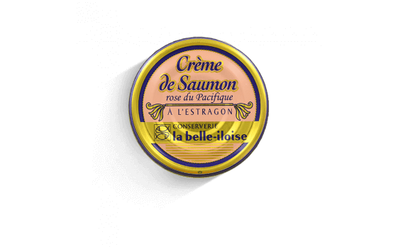 Salmon and tarragon cream - 3 tins of 130g ea.