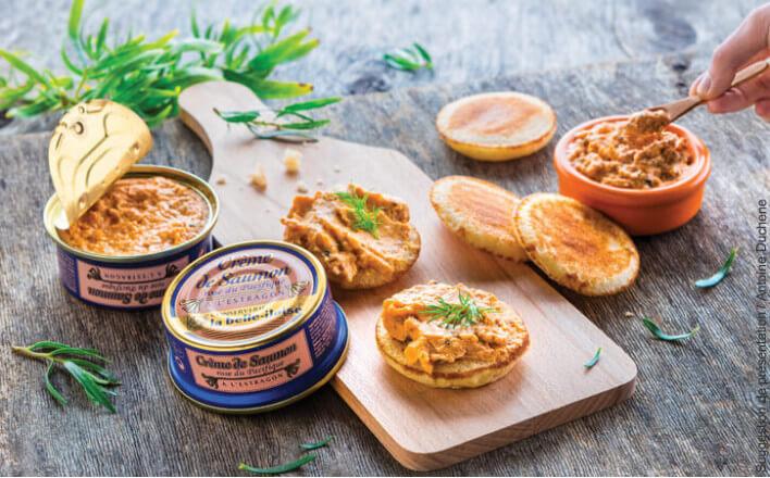 Crème de saumon rose du Pacifique à l'estragon - 3 boîtes de 130g - La Belle Iloise