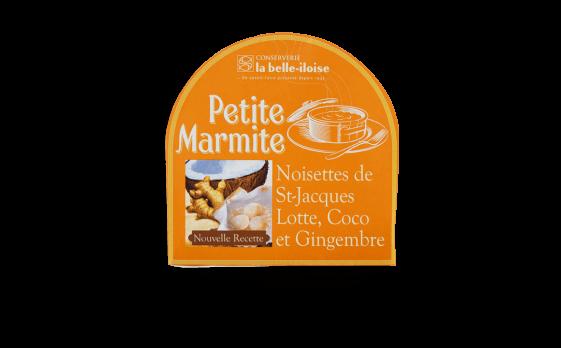 Petite marmite Noisettes de St-Jaques, lotte, coco et gingembre