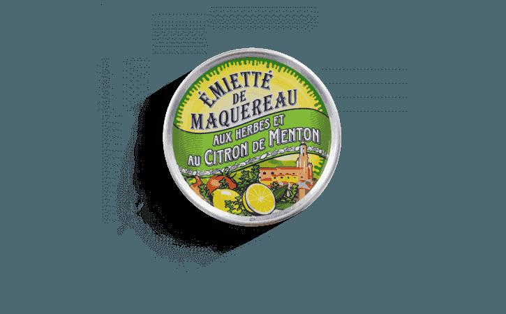 Émietté de maquereau aux herbes et au citron de Menton - Conserverie la belle-iloise