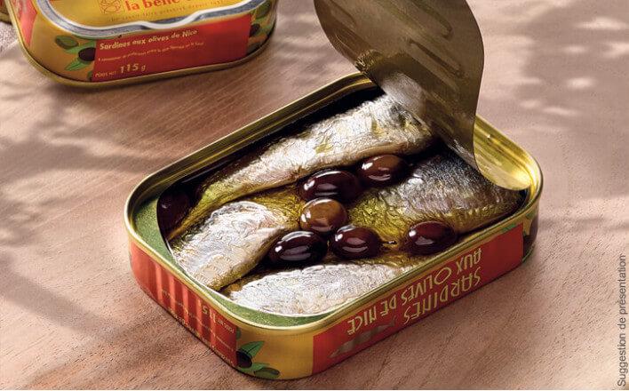 Sardines aux olives de Nice - 3 boîtes de 115g - La Belle Iloise